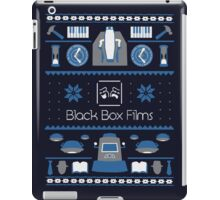 Black Box Films Christmas Sweater (Blue) iPad Case/Skin