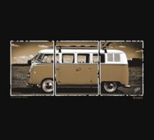Volkswagen Kombi - 3 Panel by blulime