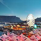 """HDR of the Victoria and Albert Waterfront, Cape Town with a rare sighting of Table Mountain without it's """"tablecloth"""" by Anna Phillips"""