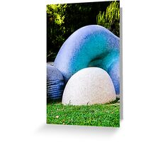 Blue Art Greeting Card