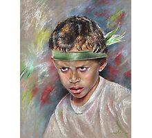 Very Young Maori Warrior from Tahiti Photographic Print