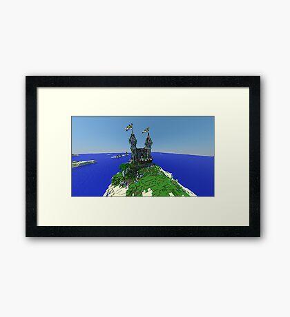 Minecraft Castle Framed Print