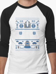 Black Box Films Christmas Sweater (Blue) Men's Baseball ¾ T-Shirt