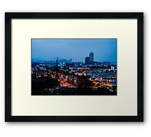 Barcelona at Night  Framed Print