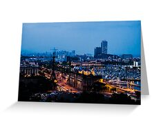 Barcelona at Night  Greeting Card