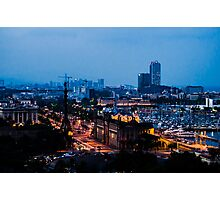 Barcelona at Night  Photographic Print