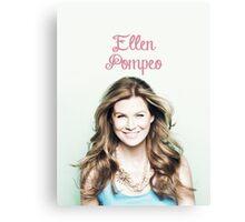 Ellen Pompeo Canvas Print