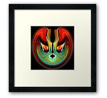 flaming eyes Framed Print
