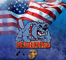 Marines iPhone Case by toddalan