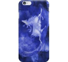 Christmas background with runing reindeer iPhone Case/Skin