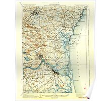 USGS TOPO Map New Hampshire NH Exeter 330032 1934 62500 Poster