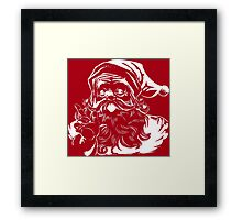 Vintage Red and White Santa Claus Framed Print