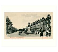 Victorian Folkestone Castle Hill Avenue Art Print