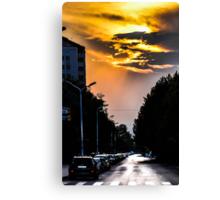 Streets of Skopje Canvas Print