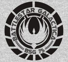 Battlestar Galactica Insignia Black by Ralph Lewis