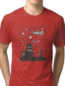 le cat says meow Tri-blend T-Shirt
