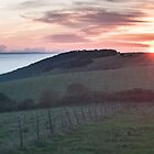 Sunrise on the South Downs by Chester Tugwell