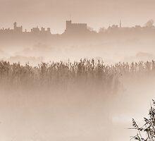 Arundel Castle Shrouded in Mist by Chester Tugwell