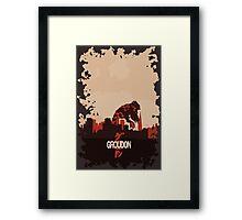 Groudonzilla Framed Print