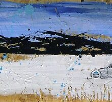 Salt Flats Racer 3 Painting by Richard Yeomans