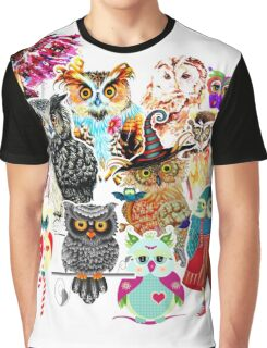 Owls collage Graphic T-Shirt