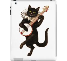 Funny Vintage Cat Dancing and Playing Banjo iPad Case/Skin