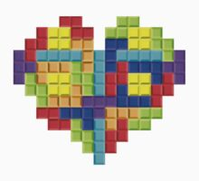 Tetris Block Heart by Waconer