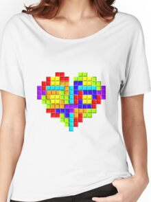 Tetris Block Heart Women's Relaxed Fit T-Shirt