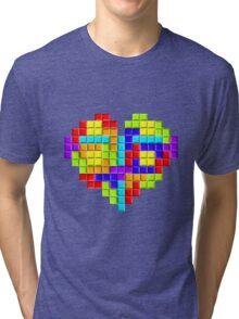 Tetris Block Heart Tri-blend T-Shirt