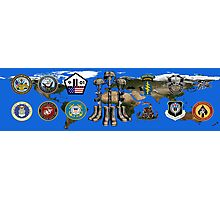 Fallen Soldier Battle Cross Veteran and 9/11 Memorial Wall Painting Photographic Print