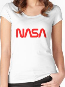 NASA Logo Women's Fitted Scoop T-Shirt