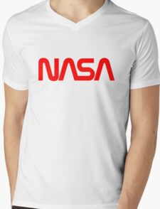 NASA Logo Mens V-Neck T-Shirt