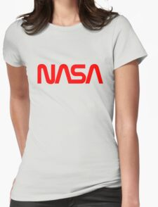 NASA Logo Womens Fitted T-Shirt