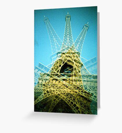 Eiffel Tower is Falling Down - Lomo Greeting Card