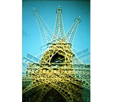 Eiffel Tower is Falling Down - Lomo Photographic Print
