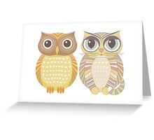 Owl & Cat Greeting Card