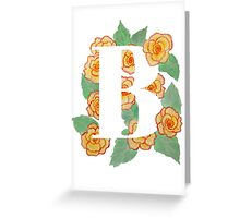 Watercolour Begonia Flowers Greeting Card