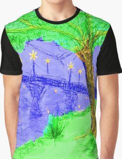 Bridge At Twilight 2 Graphic T-Shirt