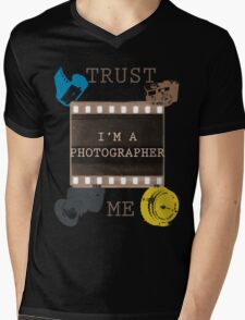 Trust The Photographer Mens V-Neck T-Shirt