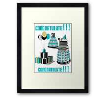 Doctor Who CONGRATULATE!!! Framed Print