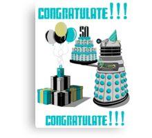 Doctor Who CONGRATULATE!!! Canvas Print