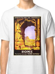 Vintage Ruins of Rome Italy Travel Classic T-Shirt