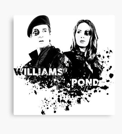 Amy Pond & Rory Williams Canvas Print