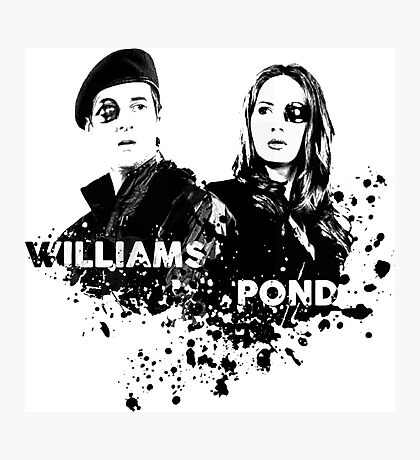 Amy Pond & Rory Williams Photographic Print