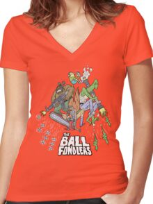 Rick & Morty - The Ball Fondlers Women's Fitted V-Neck T-Shirt