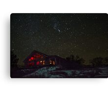Cabin and Orion Canvas Print