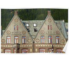 Bryggen Architecture Poster