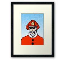 Fireman Santa Framed Print