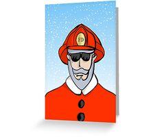 Fireman Santa Greeting Card