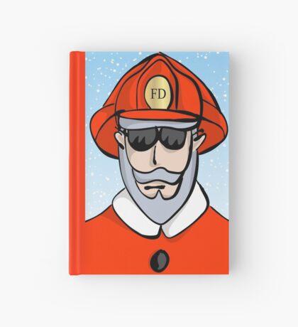Fireman Santa Hardcover Journal